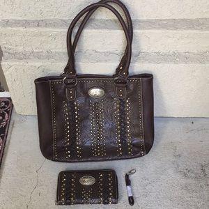 Montana West purse handbag matching wallet *Flaws*